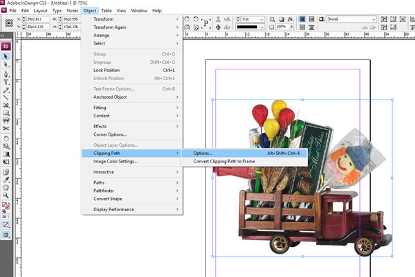 clipping path in Indesign
